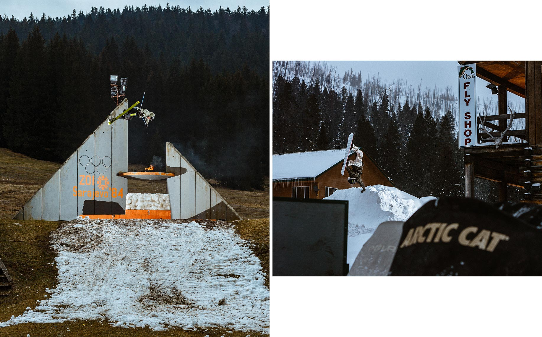 (L) Joss Christensen. Sarajevo, Bosnia & Herzegovina. (R) Scott Blum. Cooke City, MT.