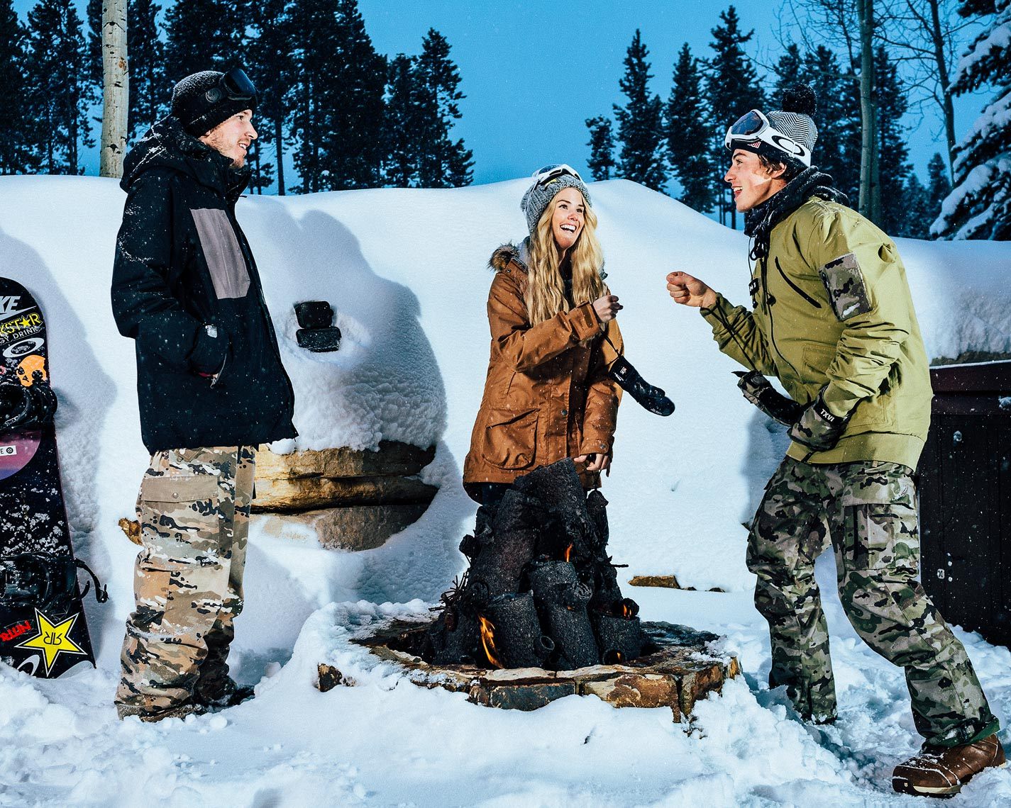 Mark McMorris, Aaron Bittner & Silje Norendal. Shot for Skullcandy.