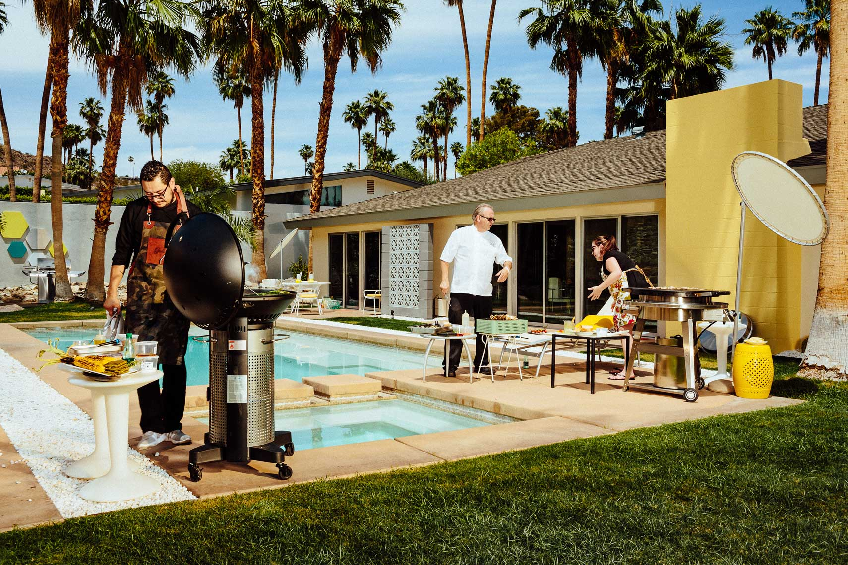 Grill Wars Barbecue photographed for Palm Springs Life magazine